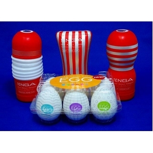 TENGA(テンガ)おすすめ赤テンガカップ 3種セットとテンガエッグEGG 6種のスペシャル豪華9種